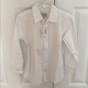 Boys white dress shirt - new with tags